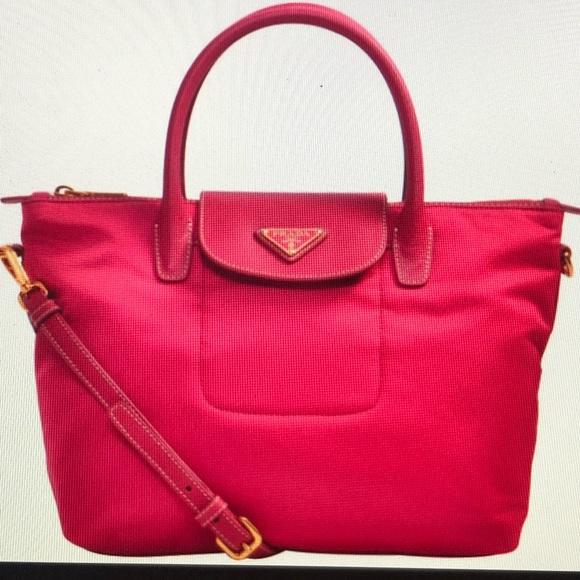 bf494d6afe0f Prada Hot Pink Nylon leather tote Crossbody 👛. M 5b52ae4d74359b1d4db69393